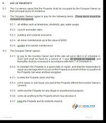 tenants in common agreement template to manage joint ownership