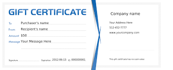business gift certificate template business letter template