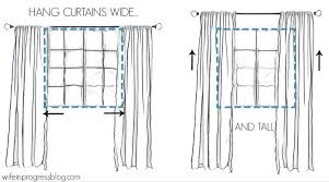 Hanging Curtains High How To Hang Curtains Simple Tips For A Bigger And Brighter Room