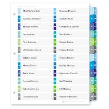 avery ready index customizable table of contents double column