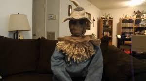 scarecrow halloween mask spirit halloween sitting scarecrow 2016 youtube