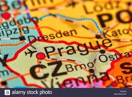 Map Of Czech Republic Prague Capital City Of Czech Republic On The World Map Stock