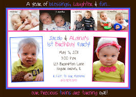 2nd Birthday Invitation Card Birthday Invites Latest Twins First Birthday Invitations Ideas