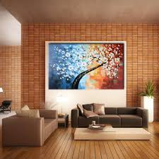 large wall picture palette knife big tree oil painting thick large wall picture palette knife big tree oil painting thick painted canvas art modern wall mural decals no frame in painting calligraphy from home