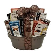 chocolate baskets sanders gourmet and chocolate baskets and gift sets for