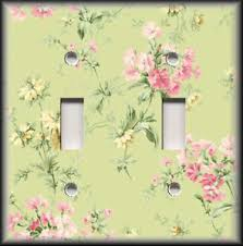Shabby Chic Switch Plate by Metal Light Switch Plate Cover Shabby Chic Decor Pink Yellow