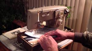 universal zig zag deluxe sewing machine w manual youtube