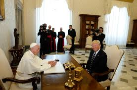 trump pope francis pope president trump speak of hopes for peace u2013 diocese of beaumont