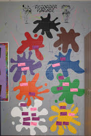 best 25 recorder karate ideas on pinterest karate school recorder karate wall in my music classroom great way to show the recorder karate levels