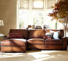Sectional Leather Sofas With Chaise Ship Turner Square Arm Leather Sofa With Chaise Sectional