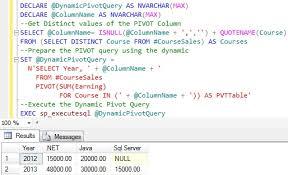 query membuat tabel di sql dynamic pivot in sql server sqlhints com