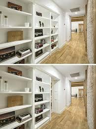 bookcase hidden bookcase door to secret room flush mount french