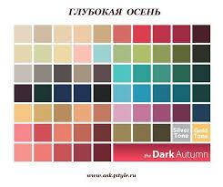 Autumn Color Schemes 59 Best цветотипы Images On Pinterest Color Combinations Colors