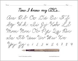 cursive script alphabet with arrows here is a convenient handout
