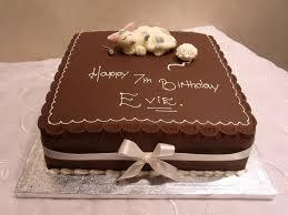 image gallery of simple square chocolate birthday cake