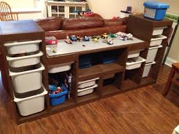 Lego Table With Storage For Older Kids Lego Storage Table 2 Trofast Storage Units From Ikea One 3 4