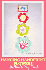 little family fun hanging handprint flowers mother u0027s day card