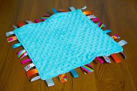 baby ribbon tutorial diy lovey tag blanket