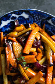 Roasted Vegetables Recipe by Cider Roasted Root Vegetables Simplyrecipes Com