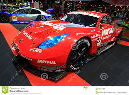 nissan 350z race car nissan 350z sports car bangkok auto salon editorial stock image