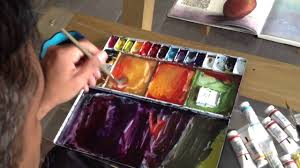 watercolors how to get different shades of colors youtube