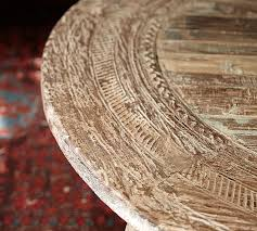 Coffee Table With Wheels Pottery Barn - bullock cart wheel coffee table pottery barn