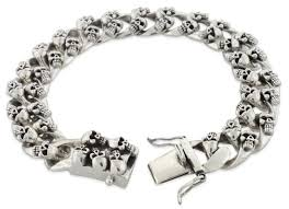 silver skull chain necklace images Sterling silver skull curb chain bracelet badass jewelry jpg
