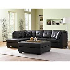 Black Sectional Sofa With Chaise Contemporary Black Leather Sectional Sofa Left Side