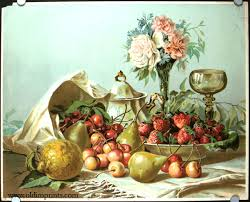 fruit and flowers untitled still with fruit and flower arrangement still