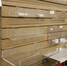 acrylic accessories for slatwall the store for stores