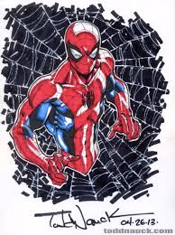 coloring spider man todd nauck copic
