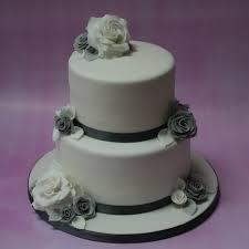 silver and grey wedding cake 2 tier