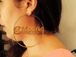 Personalized Name Earrings Hoop Name Earrings U2013 Myfancyboutique