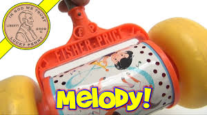 Fisher Price Toy Box Vintage Fisher Price 1963 Melody Push Chime Musical Push Along Toy