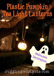 halloween tea lights plastic pumpkin tea light lanterns tree decoration for halloween