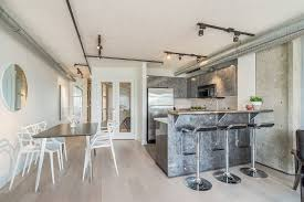 industrial apartments apartments simple kitchen and dining area arrangement of the