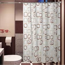 Waterproof Fabric Shower Curtains Aliexpress Com Buy Waterproof Bath Curtain Square Pattern Home