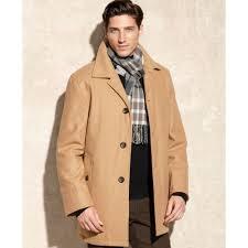 london fog alden wool car coat in natural for men lyst