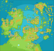 World Map Regions by Map Of The Pokemon World Pokemon