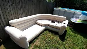 chesterfield inflatable sofa intex blow up sectional youtube