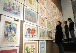 art exhibition in nagoya illustrates kids u0027 growth stages the