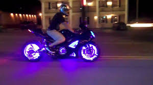 led strip lights for motorcycles unbelievable custom turbo chopper dominates the drag strip