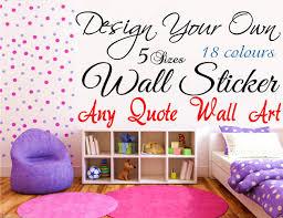 design your own wall art quote decor sticker words ebay wall sticker