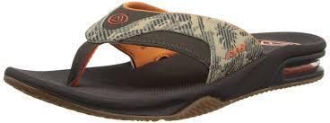 mens reef fanning flip flops sale reef boots sale reef fanning prints men s flip flop brown palm camo