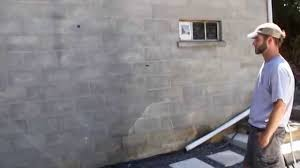 waterproofing exterior wall block foundation wall above grade