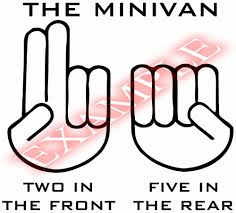 vinyl decal minivan two in the front five rear sexual funny