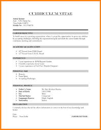Emt Resume Examples by 6 How To Write Cv Sample Emt Resume