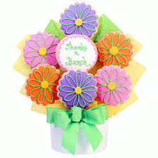 cookie bouquet thanks a bunch flower cutout cookie bouquet