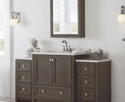 Bathroom Vanity With Side Cabinet Mesmerizing Cherry Finish Bathroom Cabinets With Granite