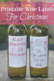 87 best christmas wine labels for fabulous personalized gifts
